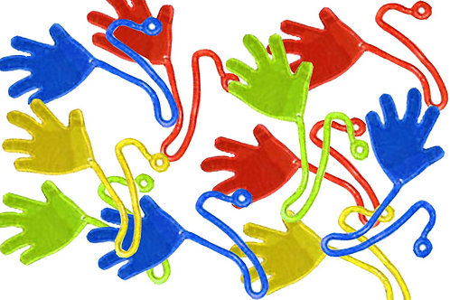 Sticky hand flappers - party favor toys pack 7