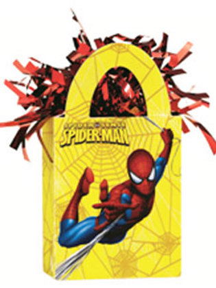Spiderman party balloon weight tote bag