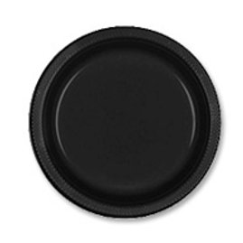 Black party plates snack dessert size pack 20