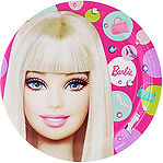 Barbie party supplies | Barbie party plates