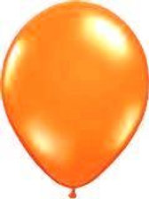 Orange Balloons metallic uninflated pack 10