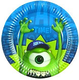 Monsters University party supplies | Monsters Inc party plates