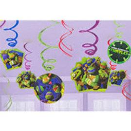 Teenage Mutant Ninja Turtle swirl decoration pk 12