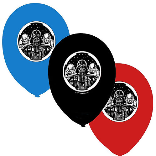 Star Wars birthday party balloons latex pack 6