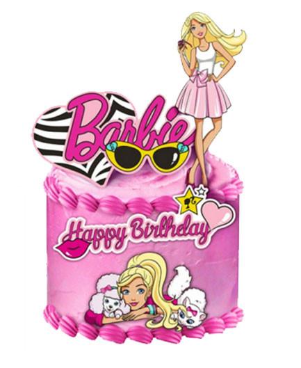 Barbie Birthday Cake Decorations