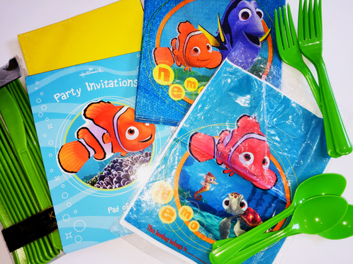 Finding Nemo Party Sale Pack Invites Napkins Loot Bags Cutlery