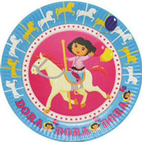 Dora the Explorer Horse Carousel themed party plates pack 6 | Australia | 24-7 Party Paks