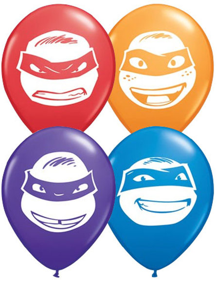 Teenage Mutant Ninja Turtle mini balloons pack 10
