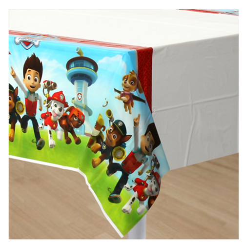 Paw Patrol party plastic tablecover 274 cm rectangle