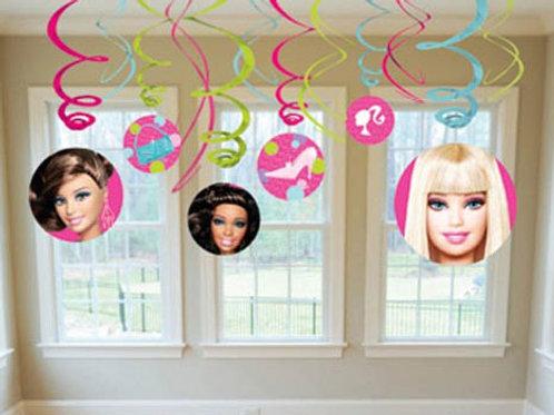 Barbie swirls  Barbie birthday party decorations   Barbie party supplies Australia   24-7 Party Paks