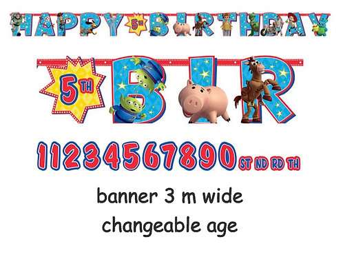 Toy Story 4 happy birthday banner hanging decoration | Toy Story banner | birthday banner
