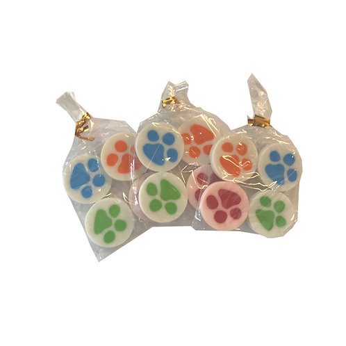 Pawprint Erasers Loot Bag Filler pack 4