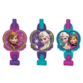 1 x pack of 8 Disney Frozen kids birthday party blowouts