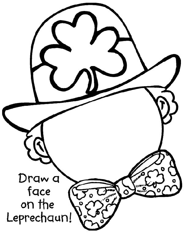 St Patrick's Day colouring activity - draw a Face on the Leprechaun find more on www.crayola.com.au