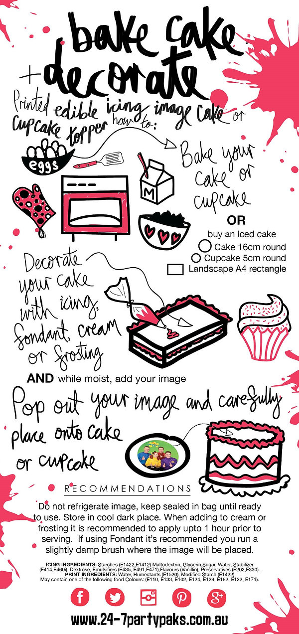 how to apply edible icing images to your cake