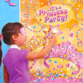 Princess party game pin the jewel on the Tiara