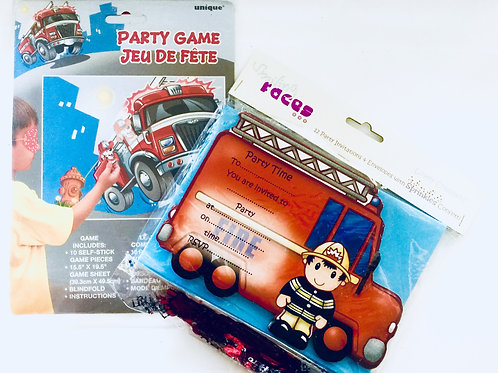 Fireman party pack - Firefighter party | Fireman party game | 24-7 Party Paks