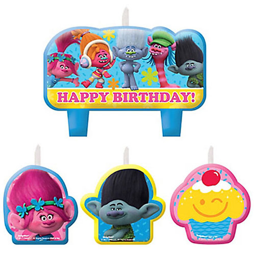 Trolls birthday cake candles | Trolls candles | 24-7partypaks