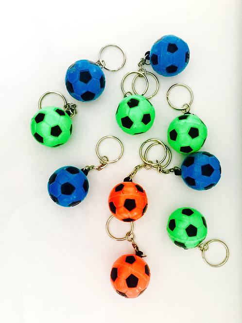 Soccer keyrings | kids soccer party favors | 24-7 Party Paks