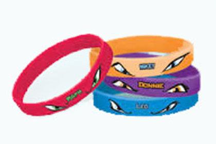 Teenage Mutant Ninja Turtle bracelets favors pk 4