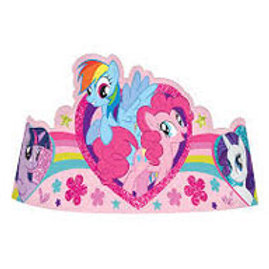 My Little Pony Tiara shape party hats pack 8