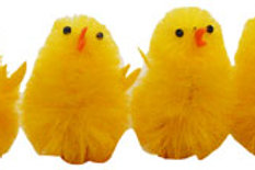 6 Giant Easter chicks kids easter party decoration