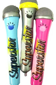 Mini inflatable Superstar microphones party favors