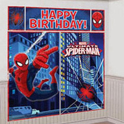 Spider-man Ultimate Giant Scene Setter decorations