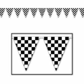 Checkered flag Giant banner pennant - 6 m
