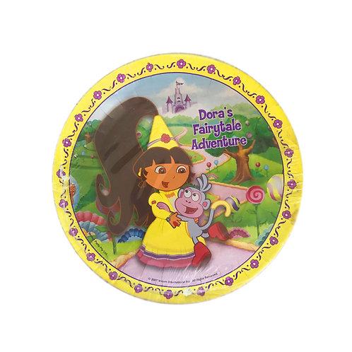 Dora the Explorer's Fairytale Adventure birthday party plates pack 8