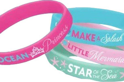 Disney Ariel Little Mermaid wristband favors pk 4
