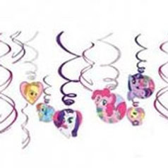 My Little Pony Friendship Magic swirls decorations