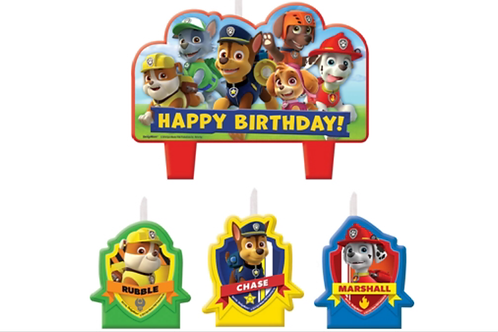 Paw Patrol birthday candles pack 4