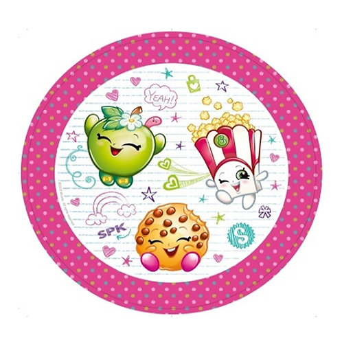Shopkins party plates pack 8 round disposable
