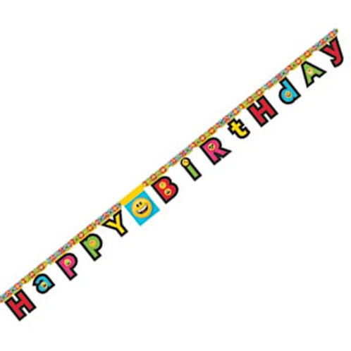 Emoji birthday banner | Emoji party decoration