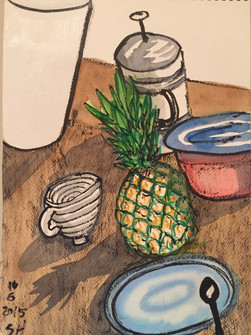 "Kitchen Counter Items, 11""x15"""
