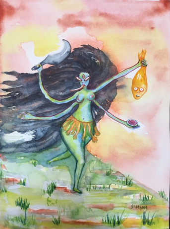 Maha Kali has a Thirst for Evil