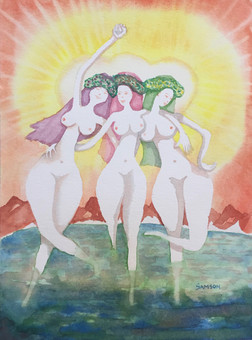 Three Nasty Graces (Private Collection)