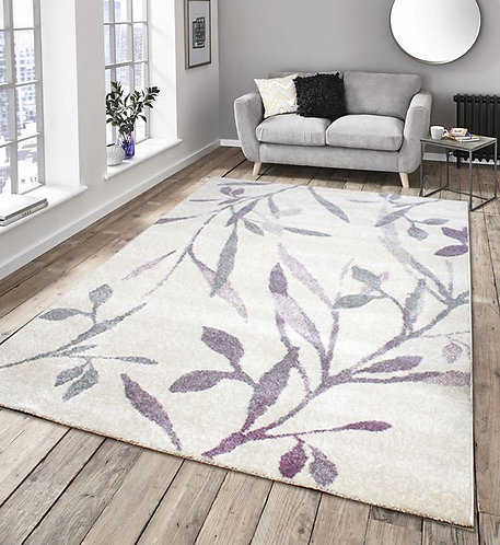 Aztec Vines Cream Purple 160x230cm
