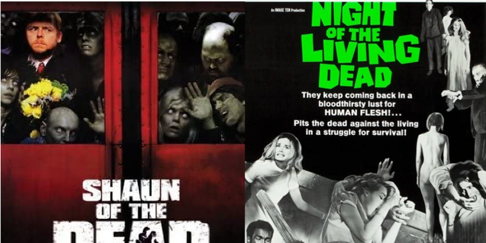 NIGHT OF THE LIVING DEAD & SHAUN OF THE DEAD
