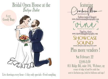 Wedding Open House At Our Webster Studio!