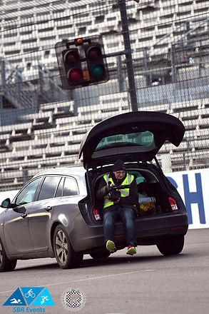 Rockingham Raceway filming on the move