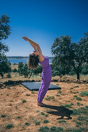 Yoga pose backward bend