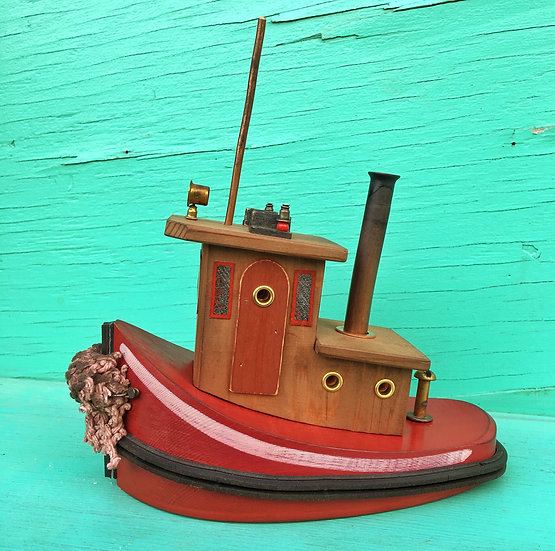 Red Steamer style tugboat