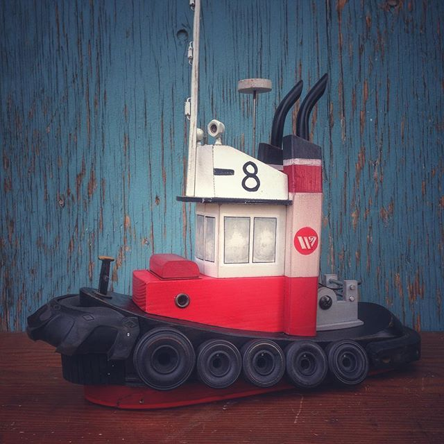 Finished this #seaspan #tug today! #tugboat_lovers #nauticaldecor #tuglife #reclaimedwood #reclaimed