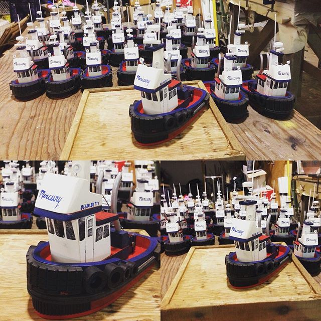 Done! The #corporategifts are done done done! #nauticaldecor #crew #gifts #mercurytug #tugboats #tug