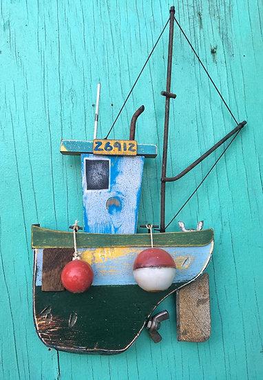 Wall hanging fish boat