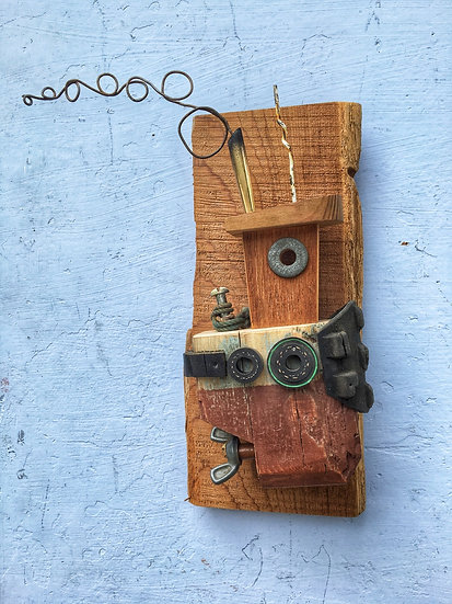 Wall hanging Rustic tugboat