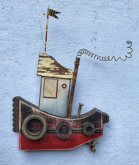Wall hanging Tugboat