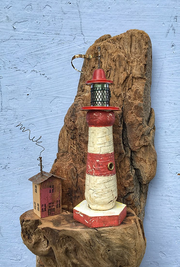 Large wall hanging lighthouse.